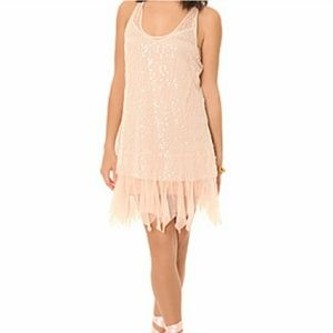 NWT M Free People Pink Sequin Dress or Tunic