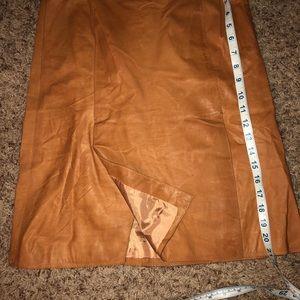 J crew lambskin genuine leather skirt 0