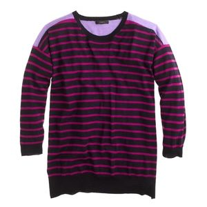 J.Crew Purple striped Long Sleeve Sweater size L