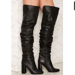 NWT Jeffrey Campbell Intrigue OvertheKnee Boot 7.5