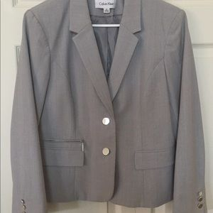 EUC Calvin Klein Sz 12 Grey Career Jacket