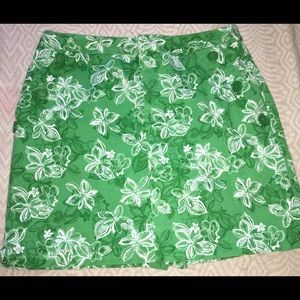 Liz Claiborne Lime Floral Skort