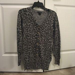Cheetah button up Sweater