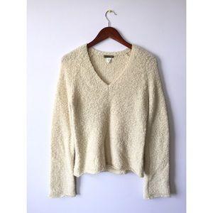 J. Crew V Neck Fuzzy Sweater