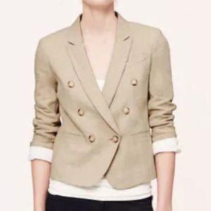 NWT Ann Taylor LOFT Linen Jacket Blazer Size 14