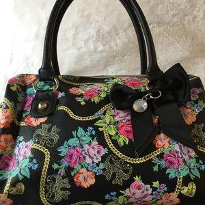 Betsey Johnson floral chain handbag