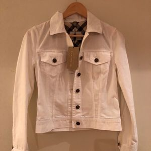 Bnwt Burberry white Jean jacket
