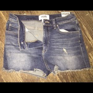 Brand new with tags PINK jean shorts size 8