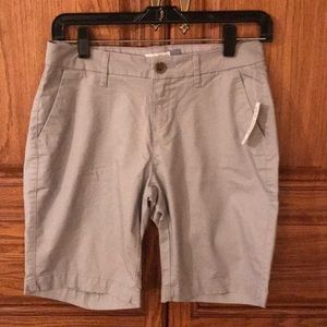 Old Navy Mid Rise Grey Bermuda Shorts