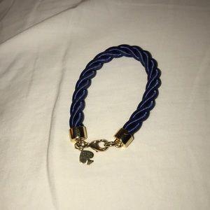 Kate Spade blue rope bracelet