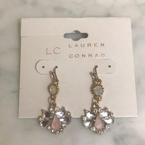 LC Lauren Conrad Dangle Opal Cluster Earrings NWT