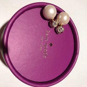 Bnwt Kate spade pearl n diamond earrings