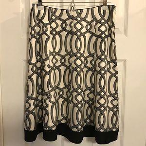White House Black Market • 100% Silk Skirt • 6