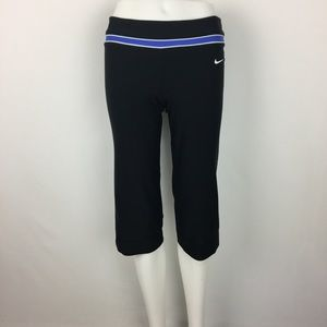 Nike DRI-FIT Athletic Sport Black Cropped Pants XS