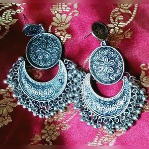 Bollywood NWT Antique Paayal/Tassel Earrings
