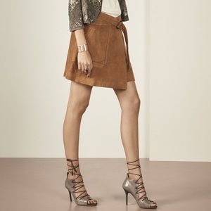 NWOT Olivia Palermo Suede Wrap Skirt