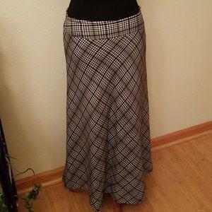 Classy Houndstooth Long Skirt