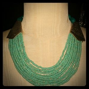 Vintage Seed Bead necklace with detail and
