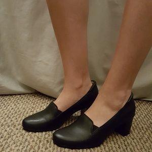 Black Heel Loafers