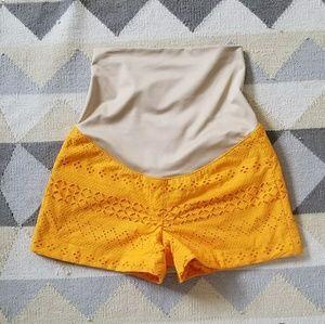 Loft Maternity Eyelet Riviera Shorts