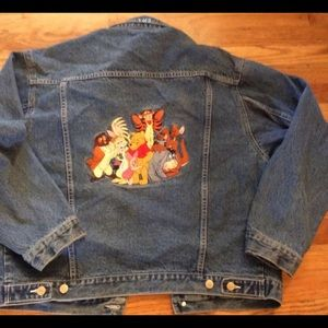 Disney jean jacket Sz L/XL