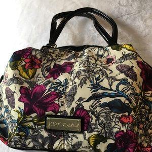 Betsey Johnson butterfly floral handbag purse