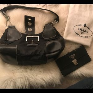 Prada purse, wallet and dust cover