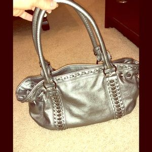 Charming Charlie's silver bag. Great condition