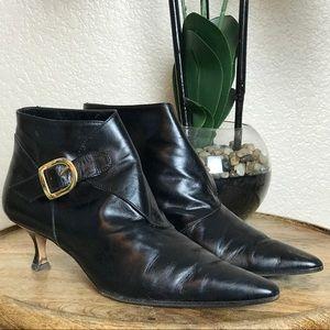 🆕Manolo Blahnik Leather Booties