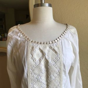 Tory Burch embroidered peasant blouse