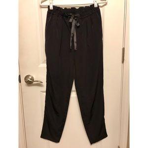 Zara Silky Drawstring Tapered Trouser Pants XS