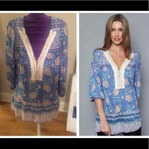 Free People Floral & Pearls Tunic (S)