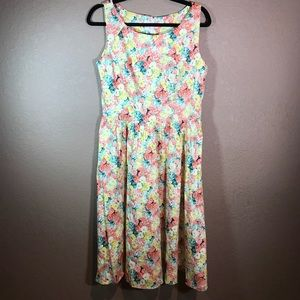 Voodoo vixen pin up style floral dress NWT size