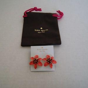 Kate Spade Lovely Lilies Statement Stud Earrings