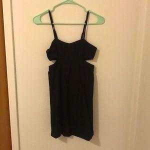 Black side cut out dress