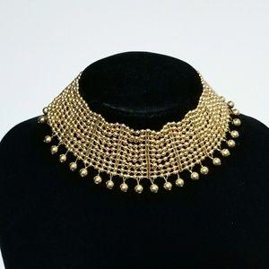 Gold Beads Choker