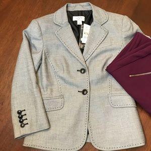 NWT LOFT gray/black blazer, 00P