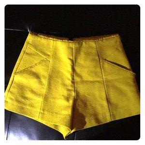 Zara dark yellow shorts