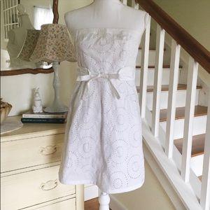 Venus white eyelet dress