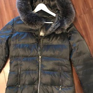 Greg Ish black down PRADA puffer jacket