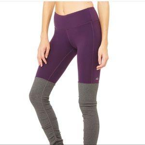 Alo yoga goddess leggings purple gray large