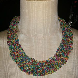 Mulicolor seed bead necklace