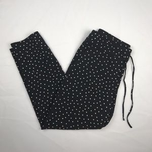 Ann Taylor Size 8P Black w/ White Polka Dot Pants