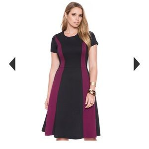 Worn once. Maroon and black, beautiful dress!
