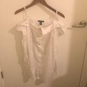 Tops - White open shoulder F21 shirt/dress