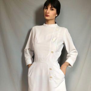 Vintage Midi white nurse dress