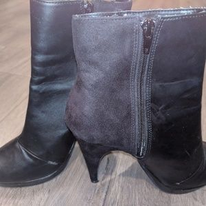 Black leather and suede boots. H&M