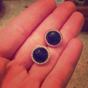 Fossil blue jewel Earring