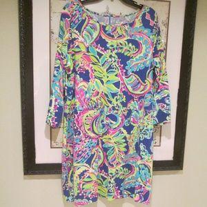 Lilly Pulitzer Tropical Print LS Shift Dress