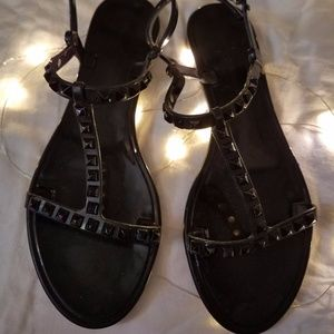 REBECCA MINKOFF Sava Jelly Studded Sandals 7 EUC